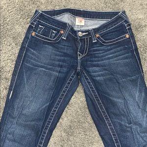 NEVER WORN True Religion dark wash jeans